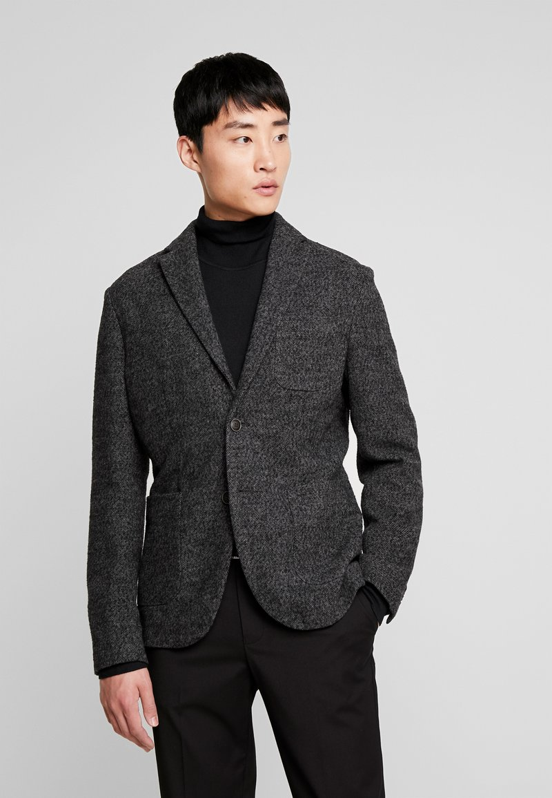 Sisley - Suit jacket - mottled dark grey