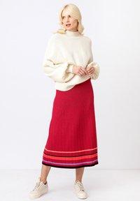 Ivko - Áčková sukně - rosewood - 1