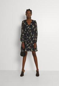 Vero Moda - VMFRAYA V NECK BALLOON DRESS - Shirt dress - black - 4