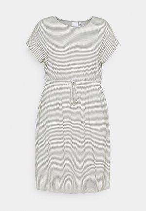 MLALISON DRESS - Jersey dress - snow white/black