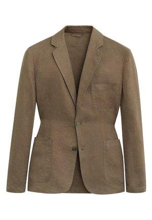 BISLAVE - Blazer jacket - mittelbraun