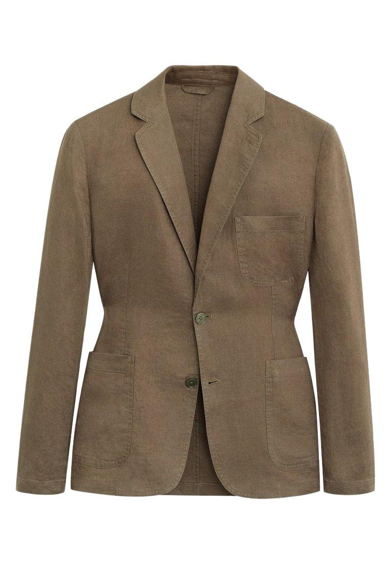 Mango - BISLAVE - Blazer jacket - mittelbraun