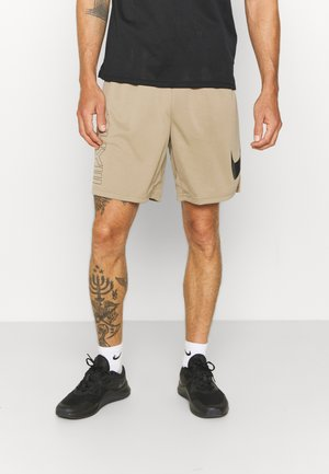 ENERGY - Korte broeken - khaki/black