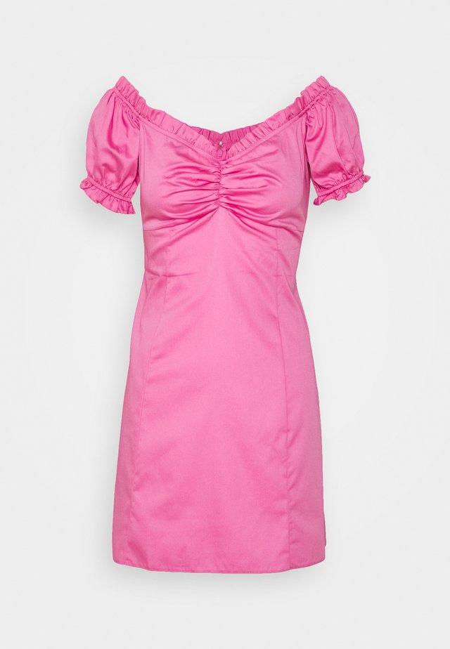 PINK POPLIN MINI  - Korte jurk - pink