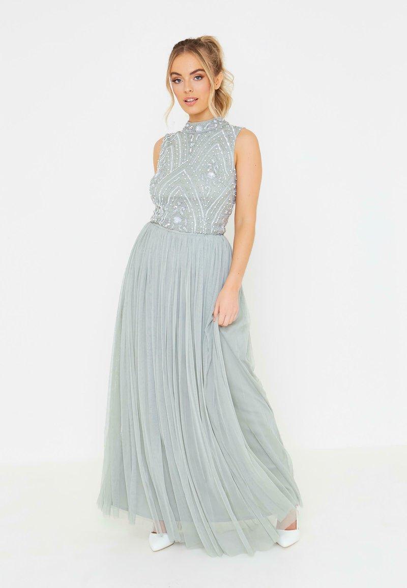 BEAUUT - Plisovaná sukně - sage green