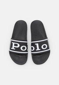 Polo Ralph Lauren - SLIDE UNISEX - Mules - black/white - 3