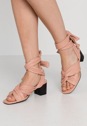 KNOT  - High heeled sandals - dusty rose