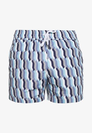 TRUNK SPORT MOSAIQUE - Swimming shorts - navy/sky blue