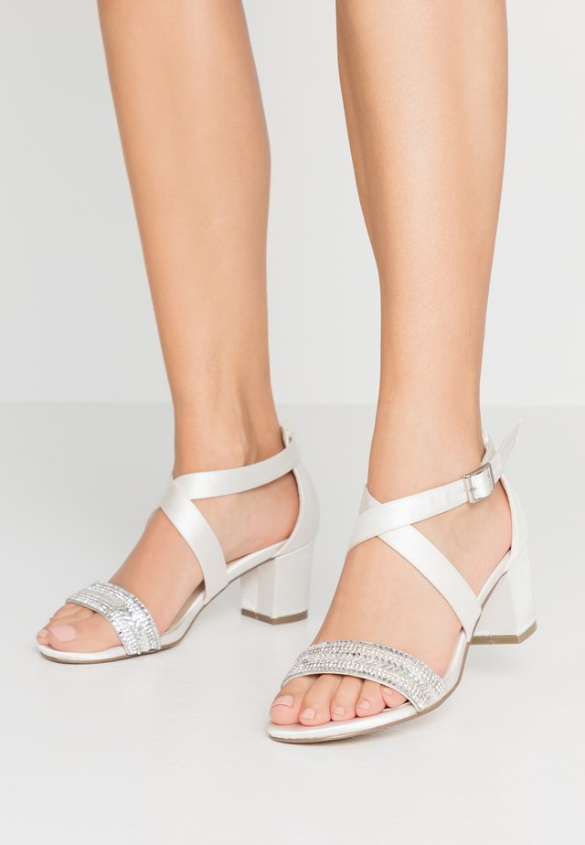 WIDE FIT HASINA - High heeled sandals - ivory