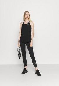 Nike Performance - DRY ELASTIKA TANK - Funktionströja - black/white - 1