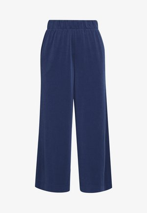 CILLA FANCY TROUSERS - Bukse - blue dark navy
