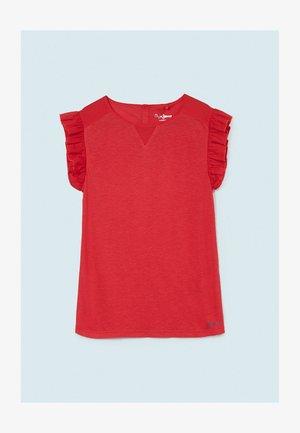 ELEONOR - Jednoduché triko - mars rot