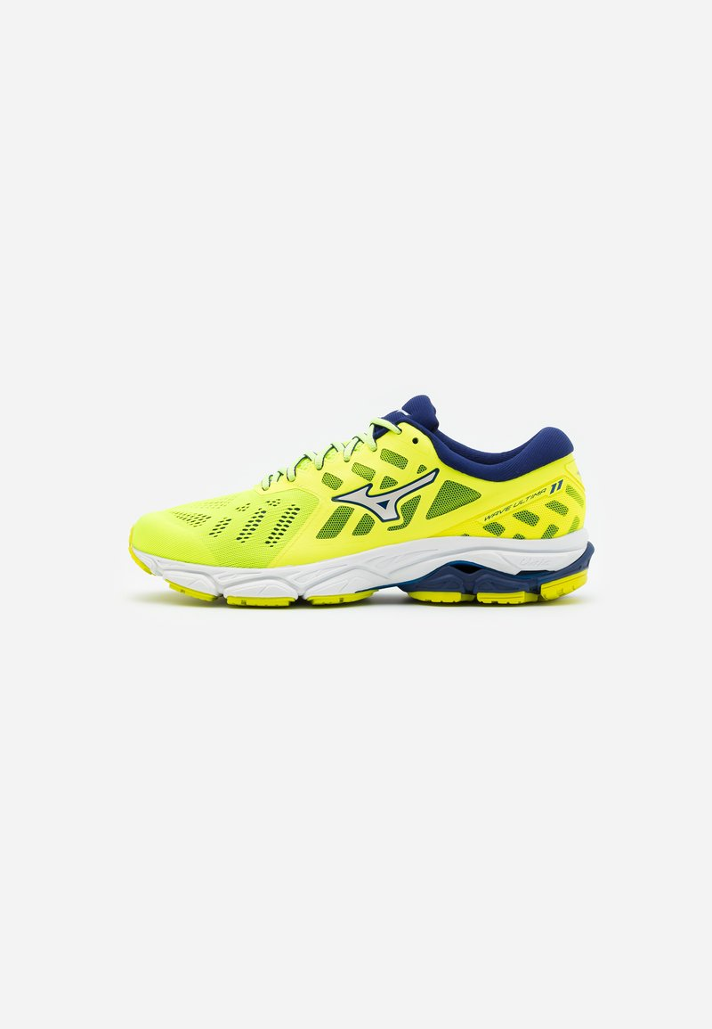 Mizuno - WAVE ULTIMA 11 - Neutrale løbesko - yellow/white/bluedepths