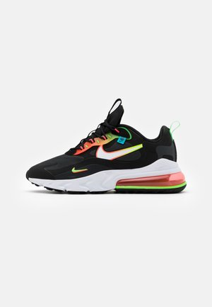 AIR MAX 270 REACT UNISEX - Trainers - black/white/green strike/flash crimson/blue fury