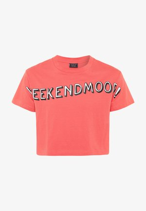 KIDS WEEKEND MOOD TEE - Print T-shirt - rosa
