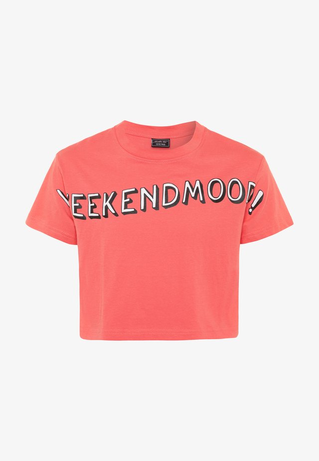 KIDS WEEKEND MOOD TEE - Printtipaita - rosa