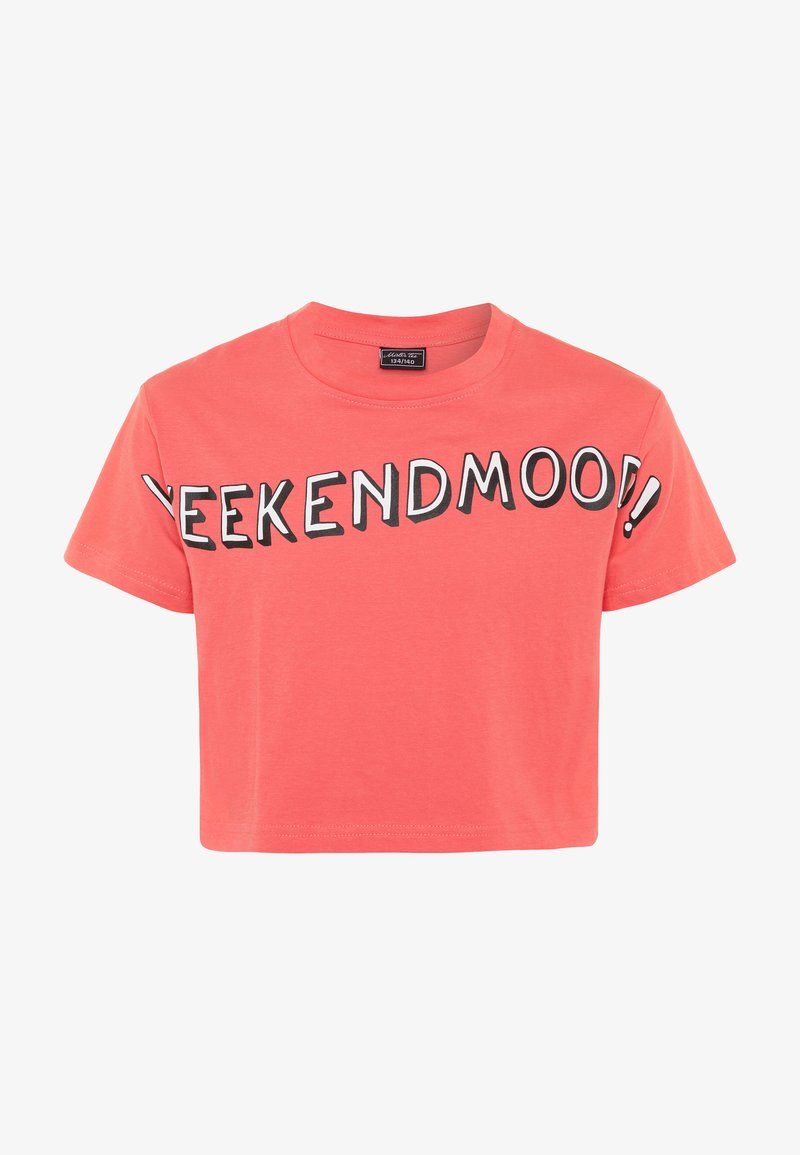 Mister Tee - KIDS WEEKEND MOOD TEE - Print T-shirt - rosa