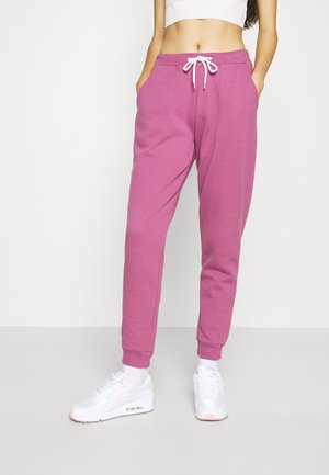 Regular fit jogger with contrast - Tracksuit bottoms - purple