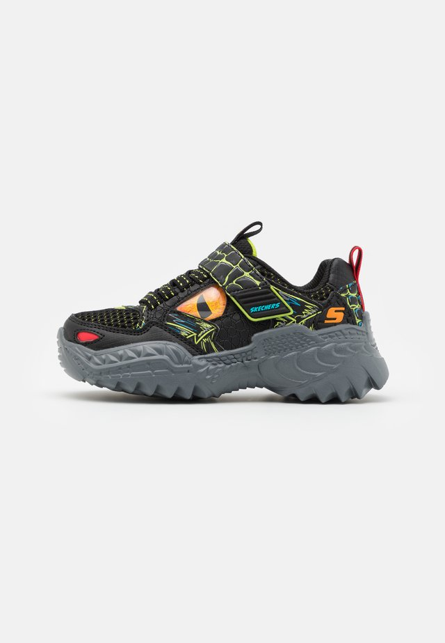 SKECH-O-SAURUS - Sneakers basse - black/lime/orange