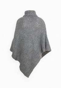 Pieces - PCSTACY PONCHO - Cape - medium grey melange - 1