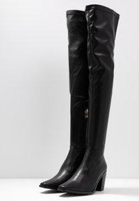 RAID - HETTIE - Overknee laarzen - black - 4