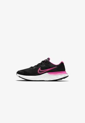 RENEW RUN 2 GS - Neutral running shoes - black dark smoke grey smoke grey hyper pink