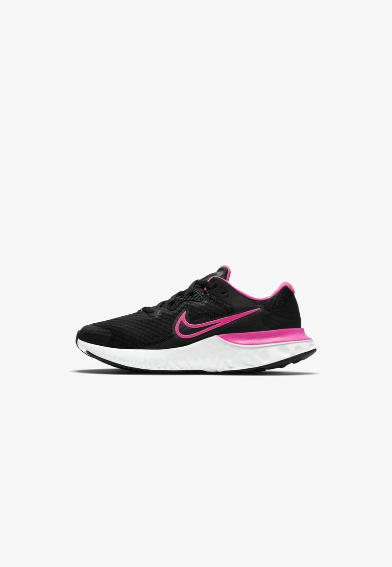 Nike Performance - RENEW RUN 2 GS - Neutral running shoes - black dark smoke grey smoke grey hyper pink