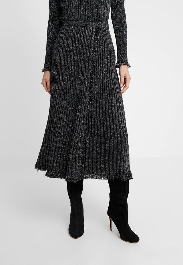 BROOKLYN - Spódnica trapezowa - black