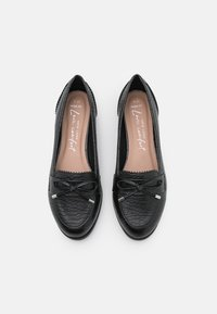 New Look Wide Fit - WIDE FIT JOEY CROC BOW LOAFER - Mocassins - black - 5