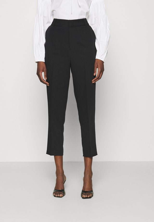 LUCCA ANKLE PANT - Spodnie materiałowe - black