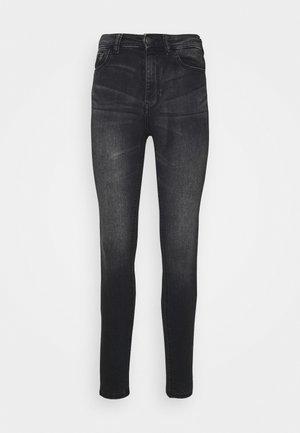 JDYNEWNIKKI LIFE HIGH - Jeans Skinny Fit - dark grey denim