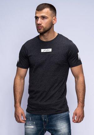 FLEMMING - Print T-shirt - dark grey melange