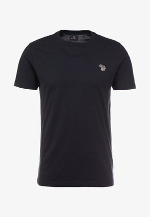 SLIM FIT ZEBRA - T-shirts basic - black