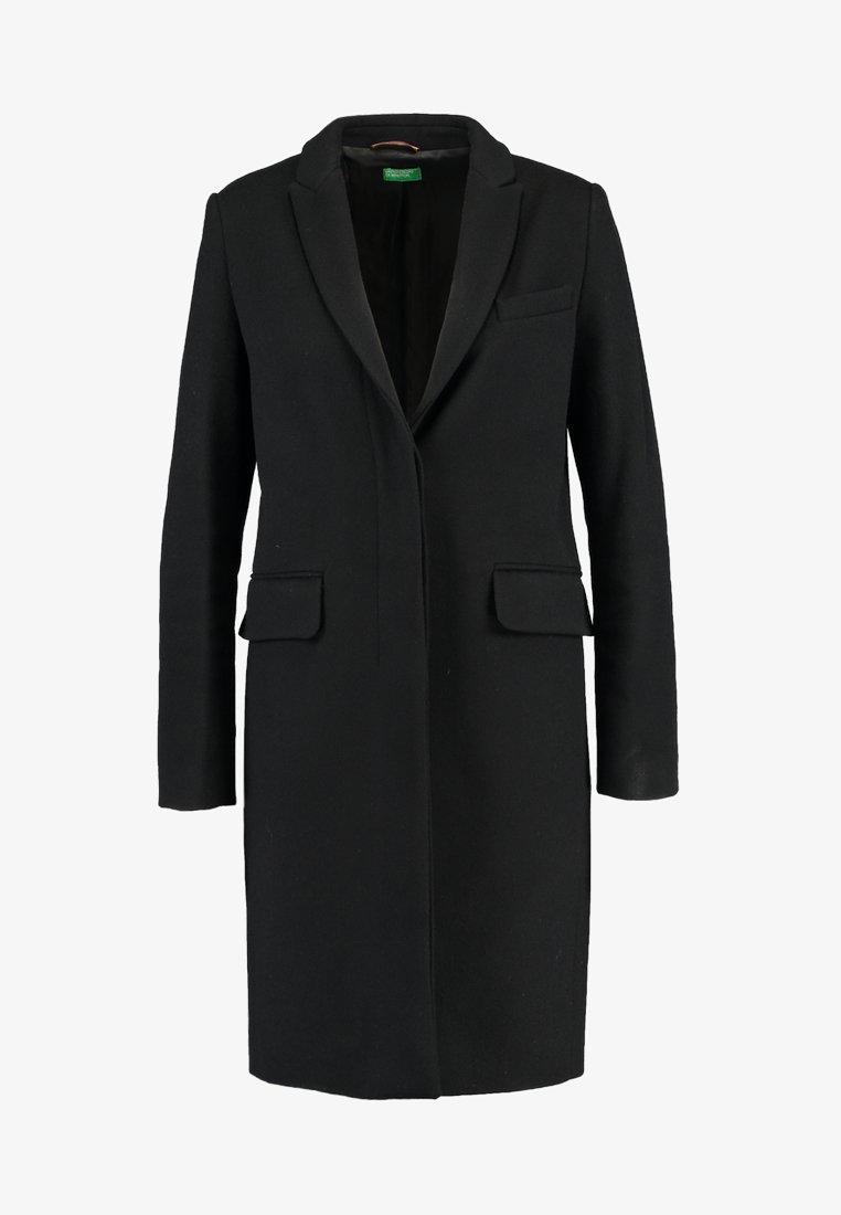 Benetton CLASSIC TAILORED COAT Kåpe frakk black