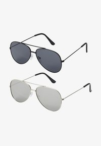 Only & Sons - SUNGLASSES 2 PACK - Zonnebril - black/silver-coloured - 1