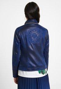 Desigual - BROWARD - Faux leather jacket - blue - 1