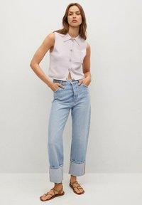 Mango - BROTO - Button-down blouse - violet clair pastel - 1