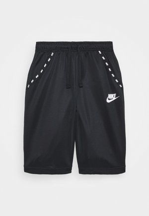 POLY - Tracksuit bottoms - black/white