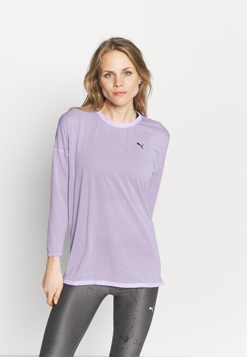 Puma - STUDIO GRAPHENE LONG SLEEVE - Langarmshirt - light lavender