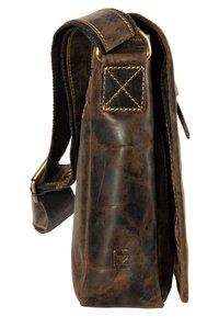 Greenburry - VINTAGE FLAPZIP - Across body bag - brown - 2