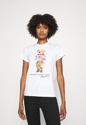 BEAR SHORT SLEEVE - Print T-shirt - white