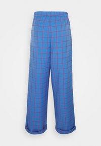 Vintage Supply - WIDE LEG CHECKED TROUSER - Pantalon classique - blue - 1