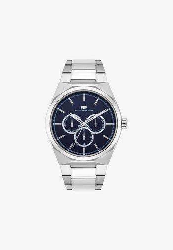 COOLEDGE - Chronograph watch - silver-coloured/dark blue