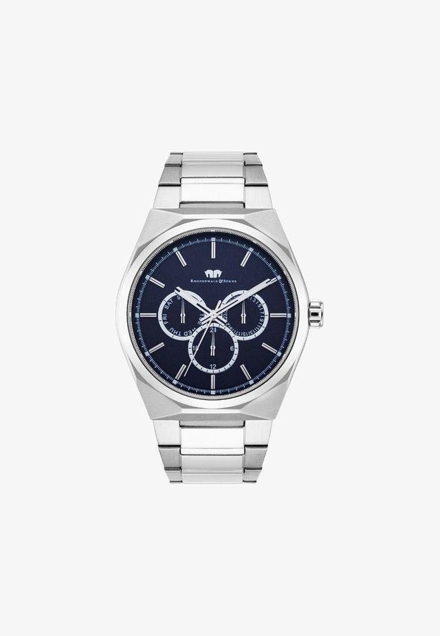 COOLEDGE - Cronografo - silver-coloured/dark blue