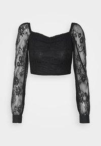 Glamorous Petite - LADIES  - Long sleeved top - black - 0