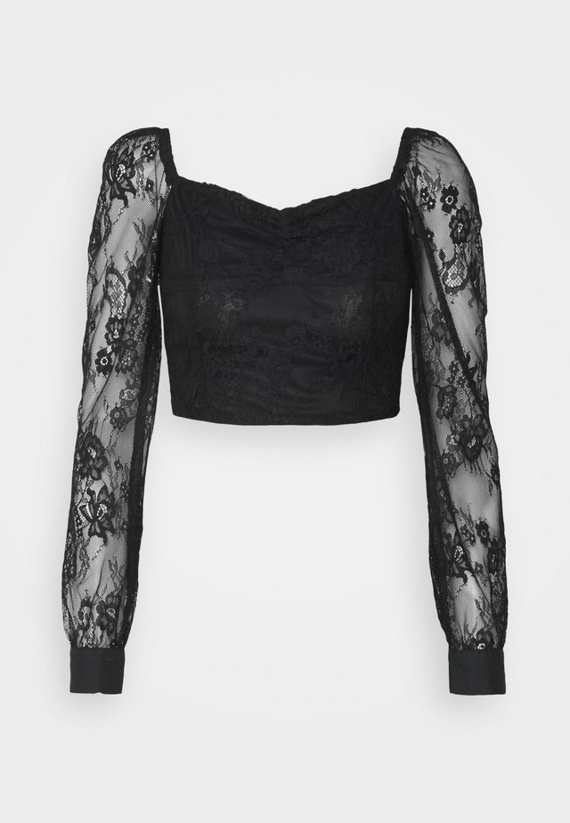 LADIES  - Long sleeved top - black