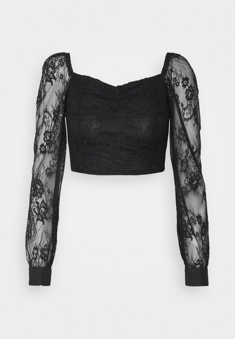 Glamorous Petite - LADIES  - Long sleeved top - black