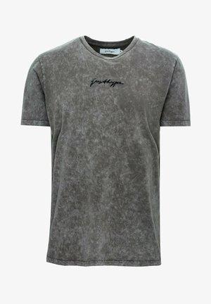 T-shirt med print - charcoal