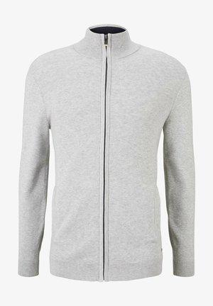 MIT STEHKRAGEN - Sweater met rits - light soft grey melange