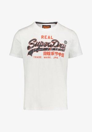 VINTAGE - Print T-shirt - white